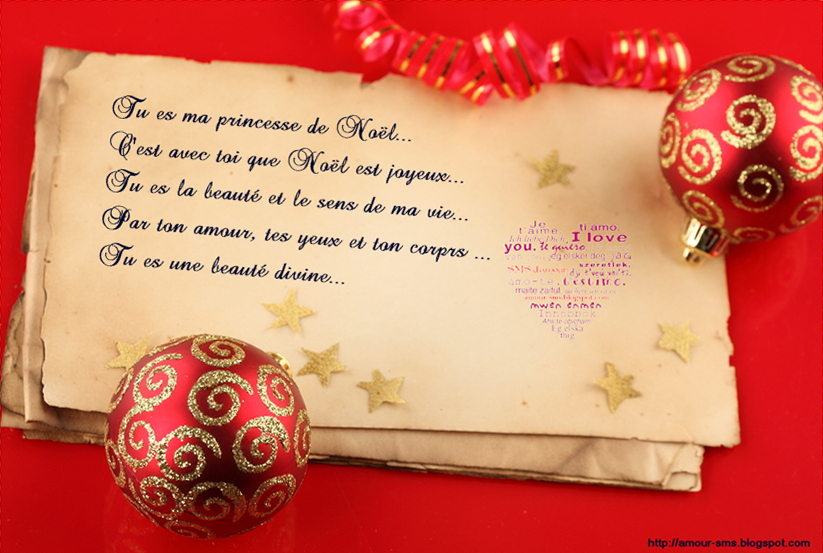 Messages romantiques pour souhaiter un joyeux Noel   Message d'amour
