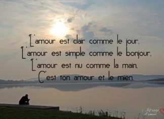 Citation bonjour mon amour