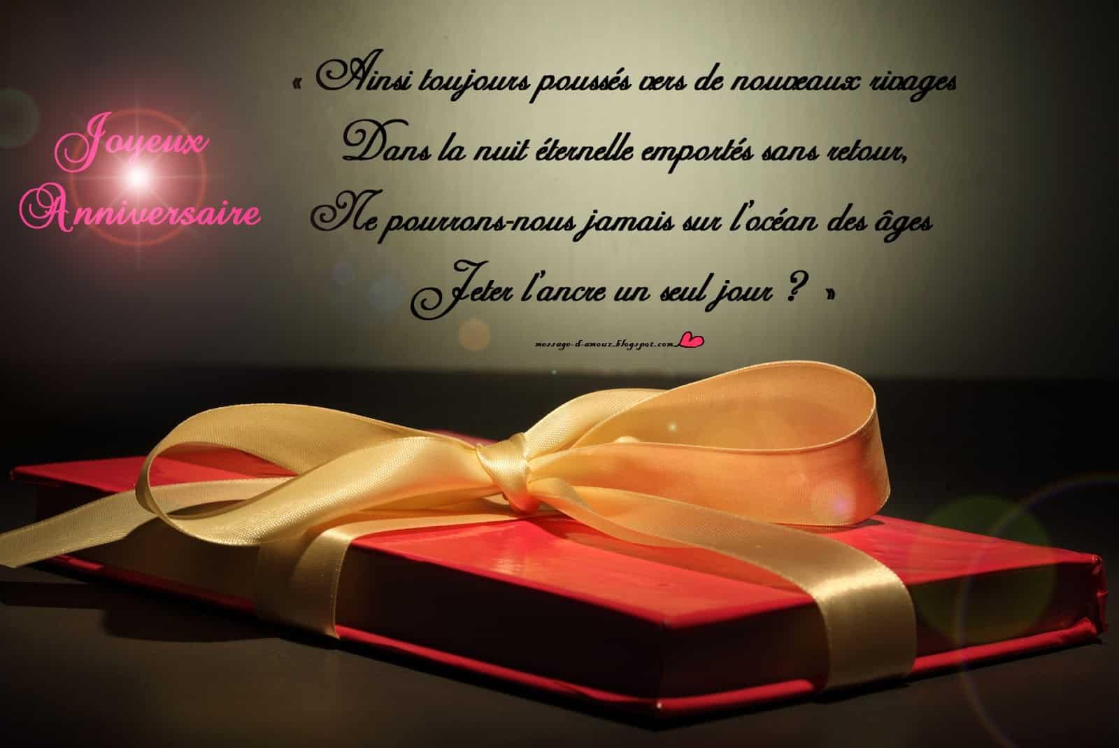 Texte D Anniversaire Message D Amour