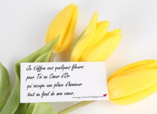 message d'amour fleur