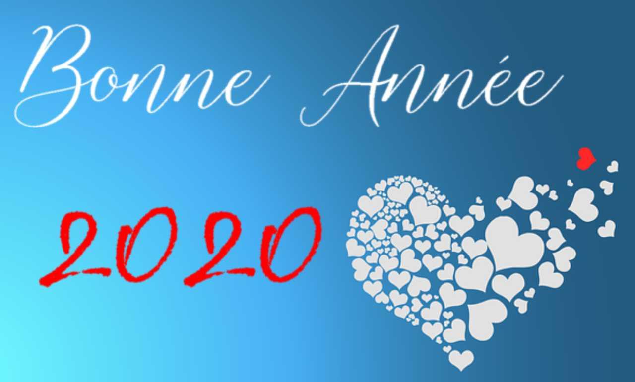 Bonne année 2020 message d'amour