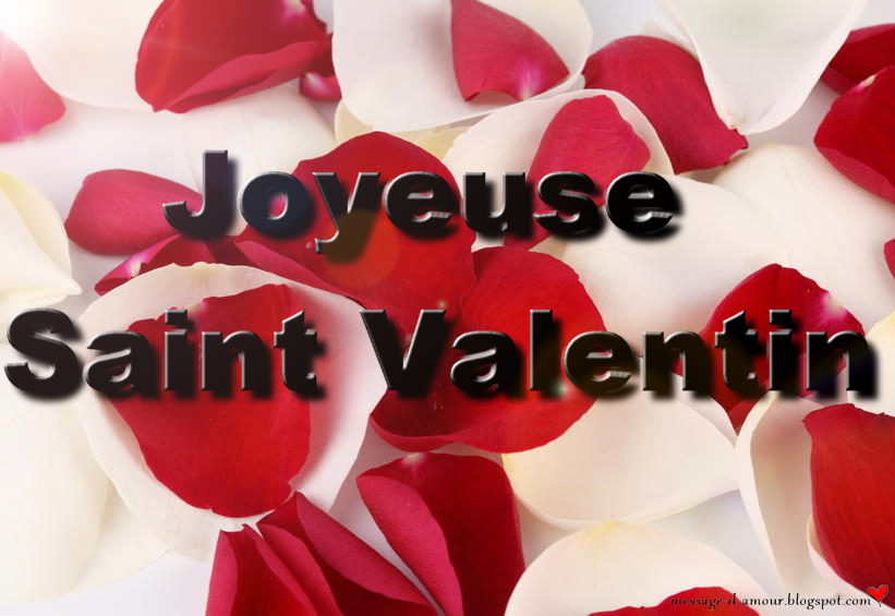 Carte Saint valentin pétales de roses