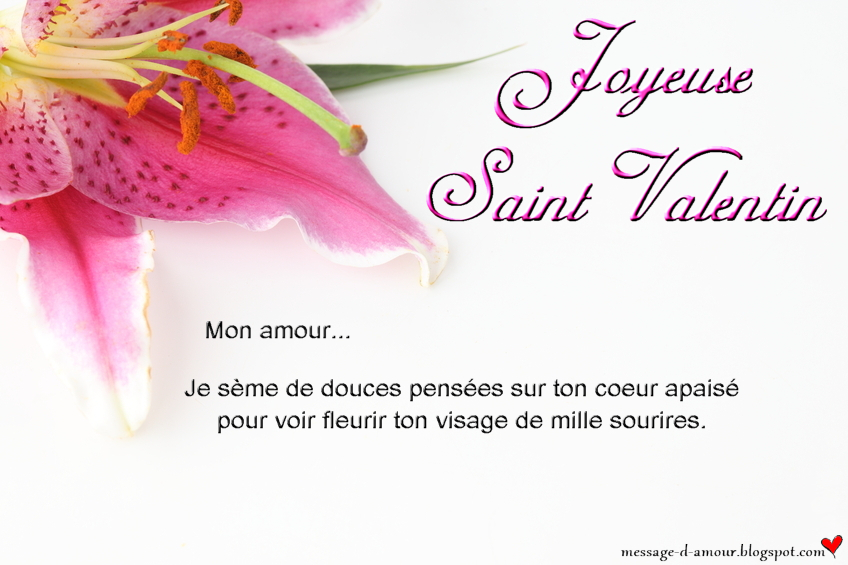 Message Saint Valentin