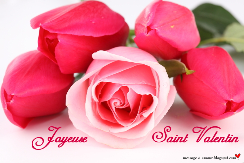 Carte Saint Valentin bouquet de rose