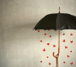 photo de pluie de coeur original