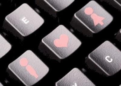 i love you les touche d'un clavier