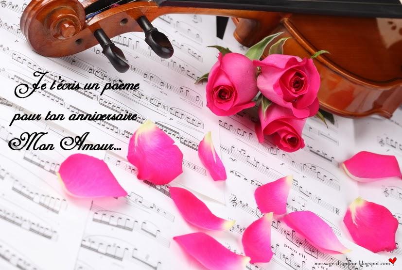 Poème Danniversaire Pour Mon Amour Message Damour