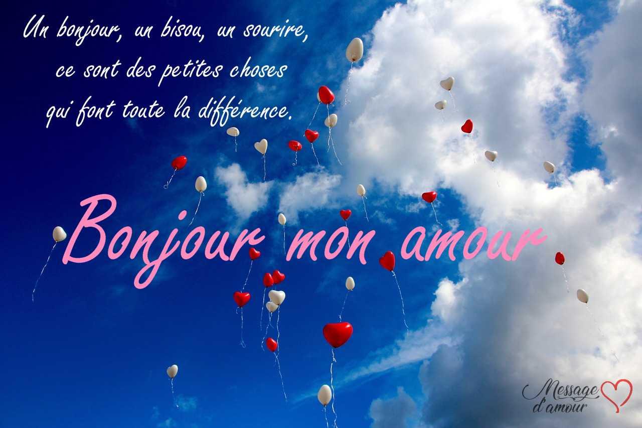 Poèmes Bonjour Mon Amour Message Damour