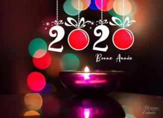 Bonne année 2020 Carte de voeux