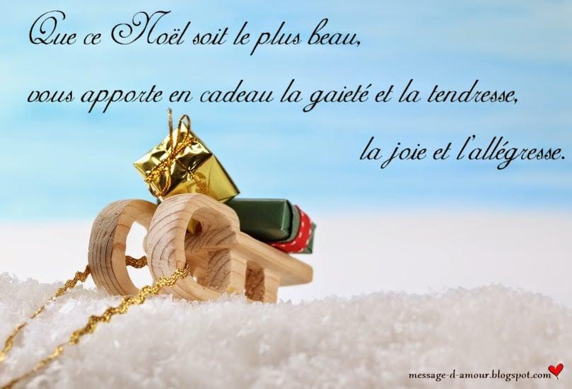 message joyeux noel
