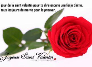 carte saint valentin