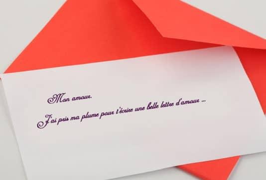Lettre Damour Dune Relation à Distance Message Damour