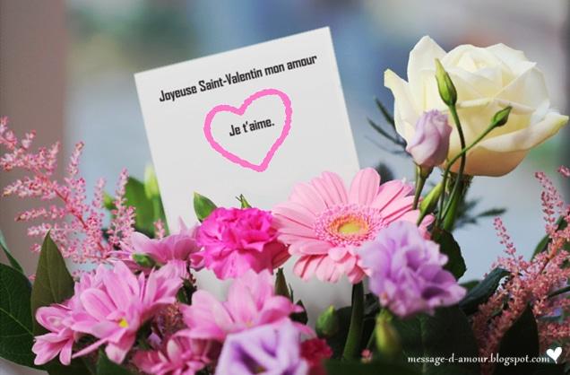 Texte d 39 amour pour carte st valentin message d 39 amour for Bouquet de fleurs pour un homme