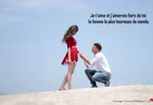 Déclaration d'amour pour une femme