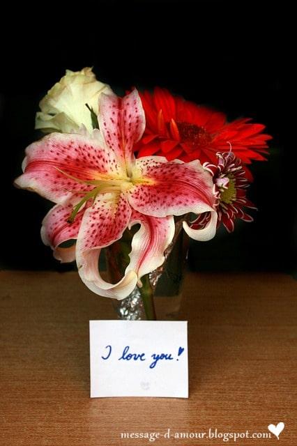 Bouquet de fleurs texte d 39 amour message d 39 amour for Bouquet de fleurs pour un homme