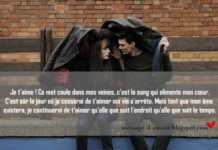 Texte d'amour et message romantique