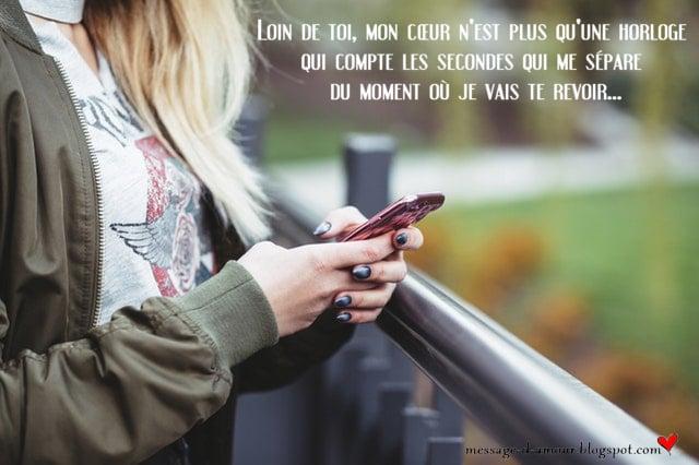 Message pour amour a distance