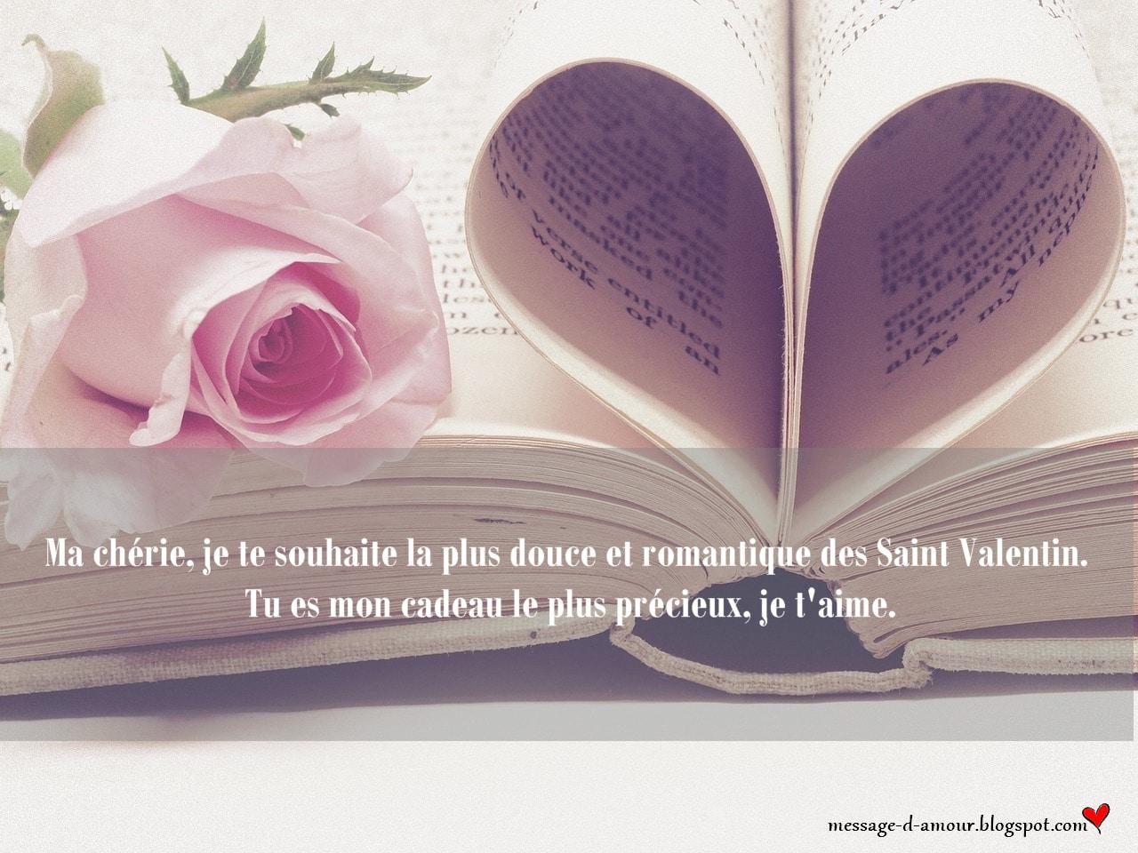 Carte Saint Valentin pour ma chérie