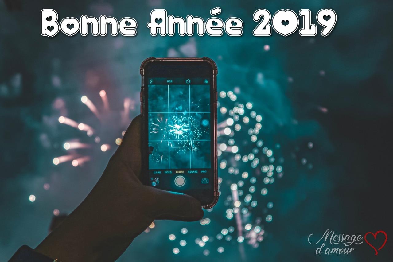 Carte Voeux de bonne année 2019
