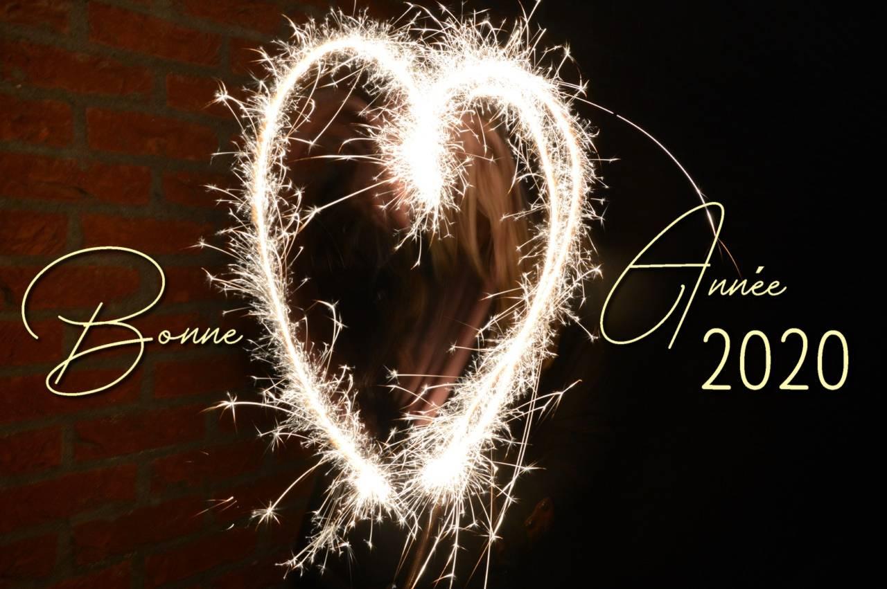 Bonne année 2020 coeur