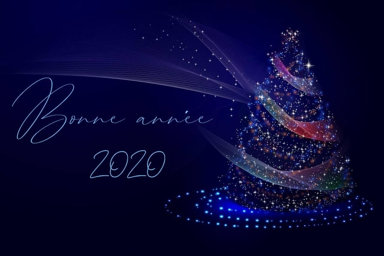 Bonne année 2020 sapin de noel