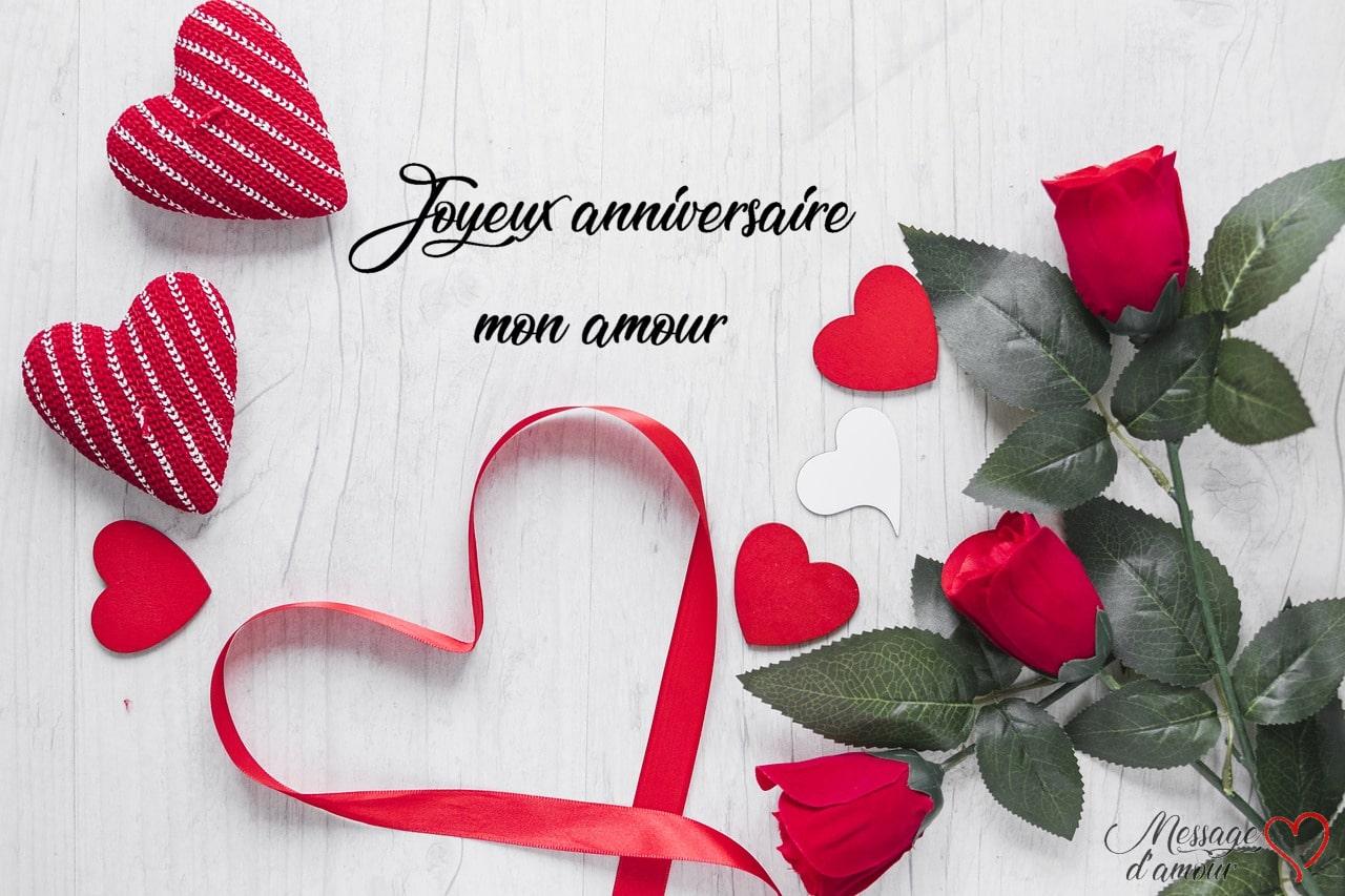 Sms Joyeux Anniversaire Mon Amour Message Damour