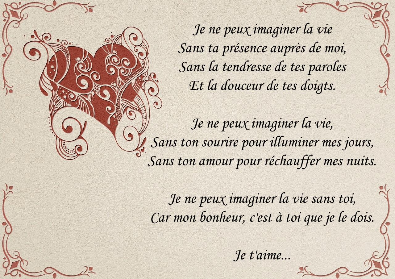 Des poèmes d'amour très touchants - Message d'amour