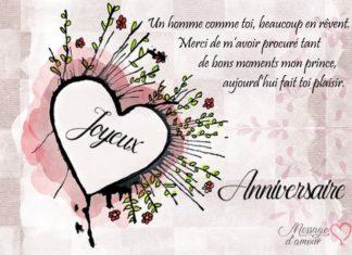 Textes Pour Souhaiter Joyeux Anniversaire à Son Chéri Message Damour