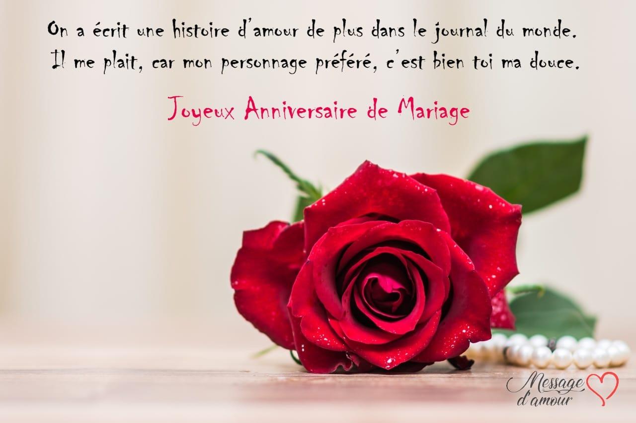 Texte Danniversaire De Mariage Pour Sa Femme Message Damour