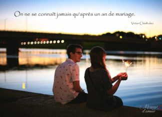 Citation un an de mariage