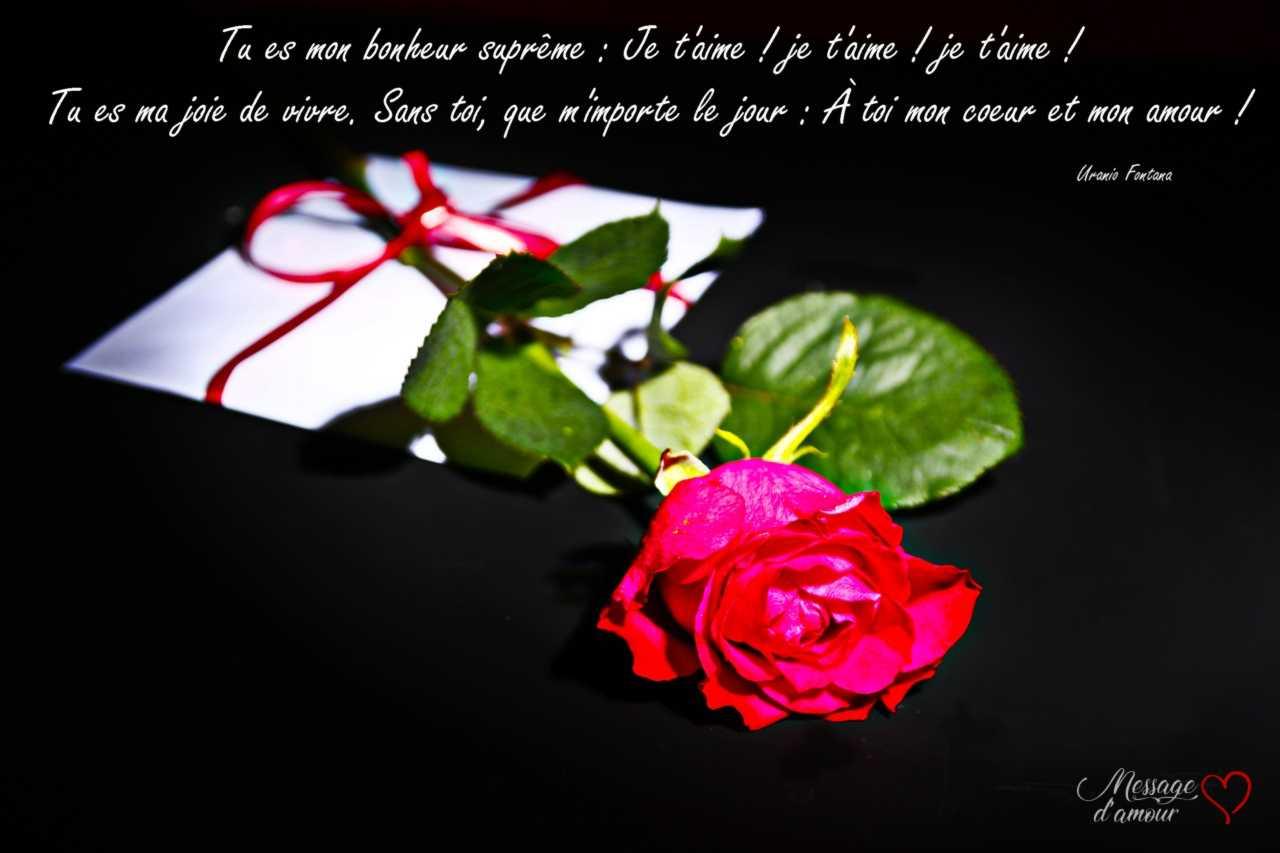 lettre d'amour à envoyer pour ma chérie