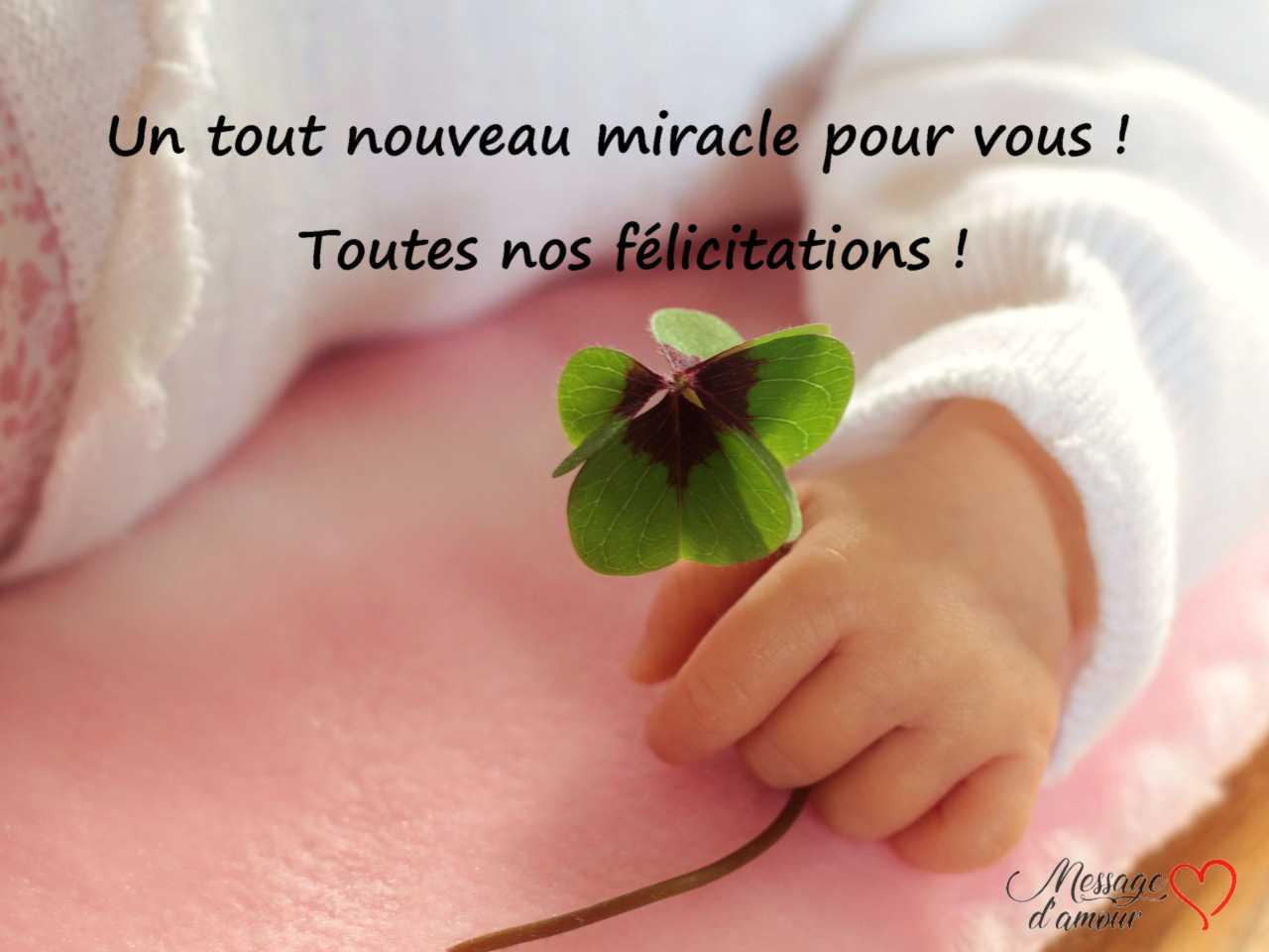 Messages De Félicitations Pour Une Naissance Message Damour