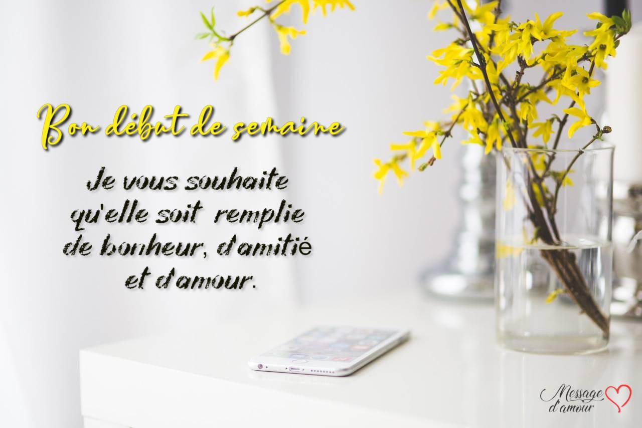 15 Messages Pour Souhaiter Une Bonne Semaine Message Damour