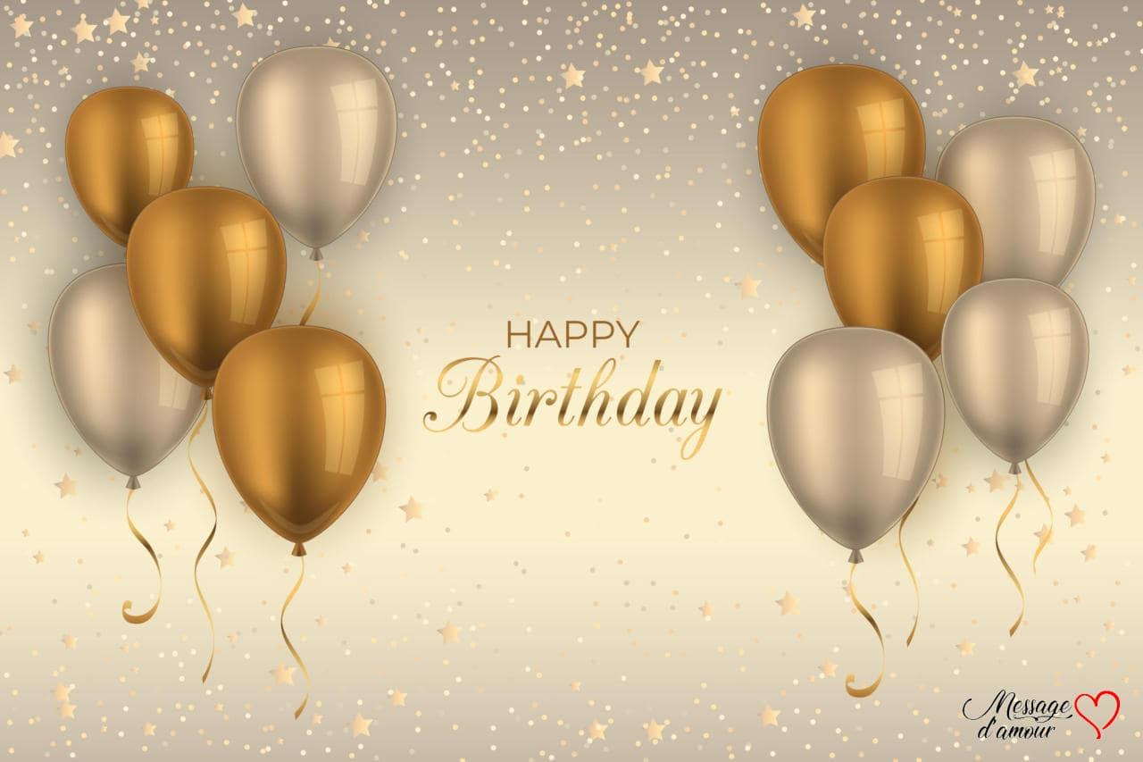 Vœux d'anniversaire