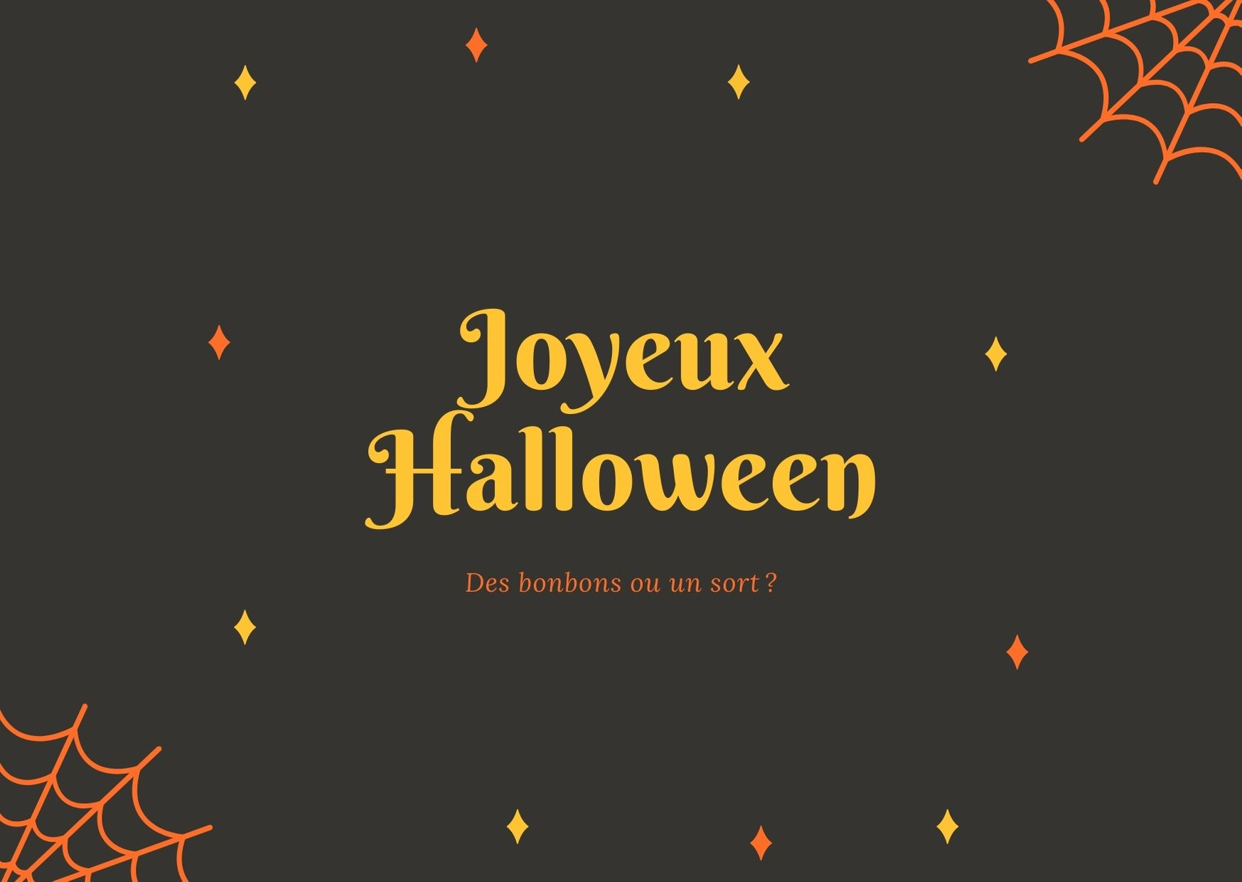 Joyeux Halloween carte