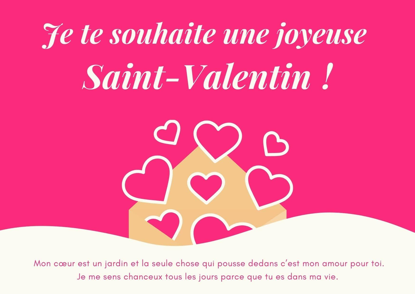 carte voeux st-valentin