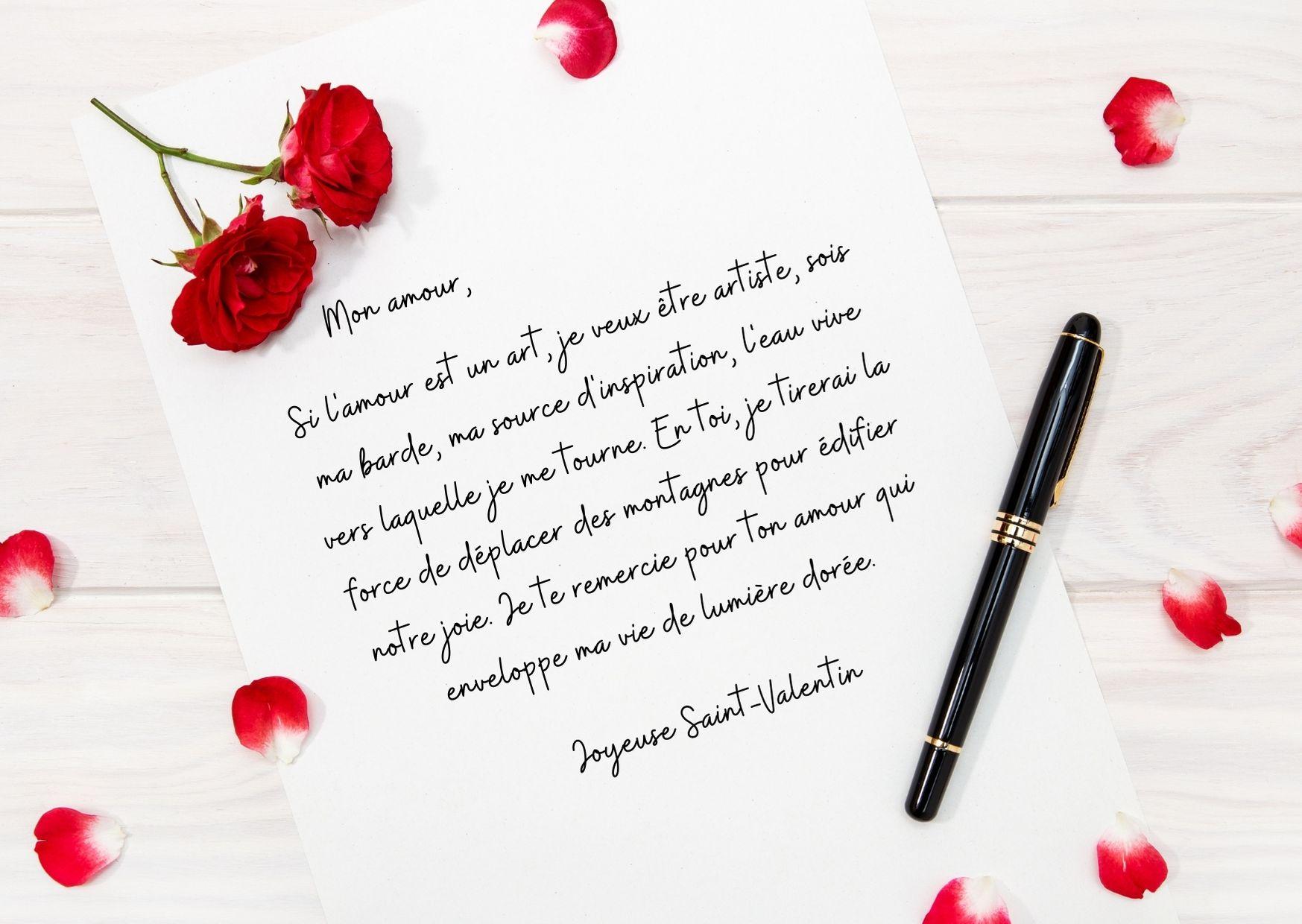 lettre pour la Saint-Valentin