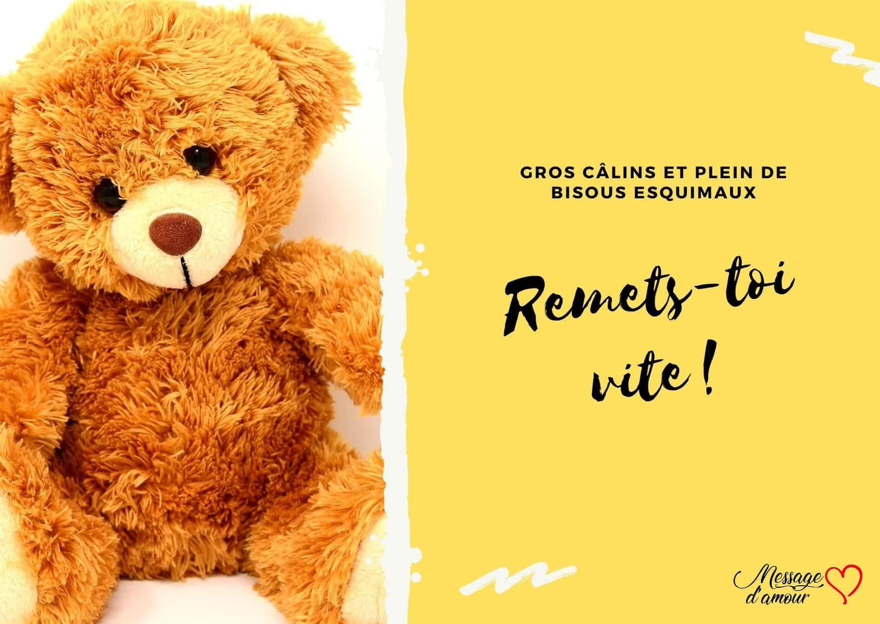 Nounours Bon Rétablissement Carte