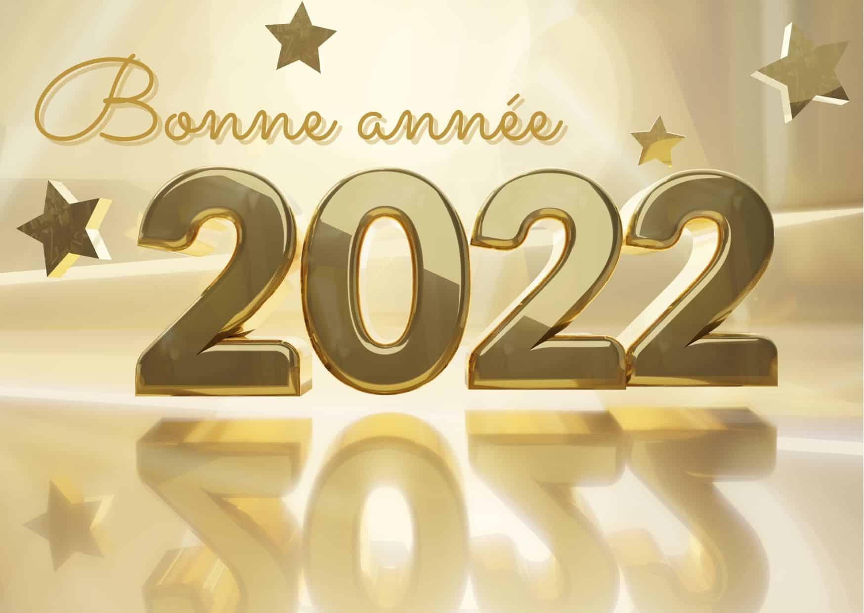 carte bonne année 2022